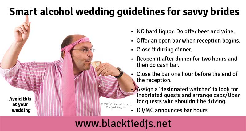 Alcohol Wedding Guidelines Black Tie Djs